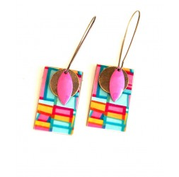 Earrings, pendant, fantasy, geometry pop, crafts