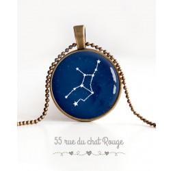 Cabochon, Sternbild, Sternzeichenanhänger Halskette